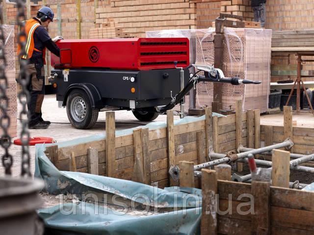 Компрессор для обдувки перекрытий и строительной опалубки при монолитных работах.
