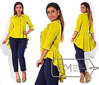 Рубашка-фрак женская асимметрической длины