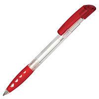 Ручка пластиковая Ritter Pen, Bubble Transparent, чернила синие, цвет ручки Красный