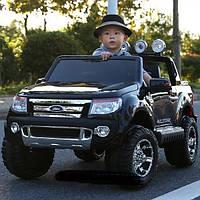 Детский электромобиль Ford Ranger EVA KD105 черный покраска