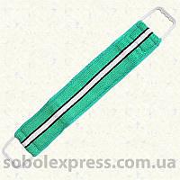 Мочалка «Бапутекс» двухстороняя с пластмасовыми ручками. Синтетика.
