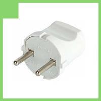 Вилка бытовая e.plug.001.10,  без з/к,10А белая