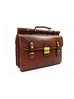 Портфель - саквояж мужской кожаный, фото 1
