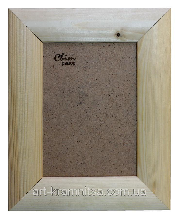 Рамка деревянная закругленная шириной 45мм под покраску. Размер, см.  10*10