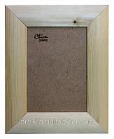 Рамка деревянная закругленная шириной 45мм под покраску. Размер, см.  17*17