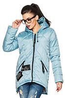 Женская деми - куртка модного фасона, голубой, р.44 - 54