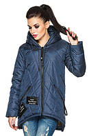 Женская деми - куртка модного фасона, синий, р.44 - 54
