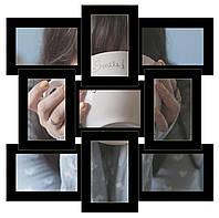 Деревянная мультирамка на 9 фото Классика 9, черная
