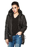 Женская деми - куртка модного фасона, черный, р.44 - 54