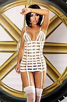 Очаровательное мини платье Lolitta Mystery dress Лолита Мистери S/M, L/XL белый цвет полиамид