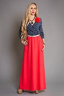 Платье в пол с розой