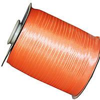 Косая бейка оранжевая, лента №6049,  1,5 см 50 м