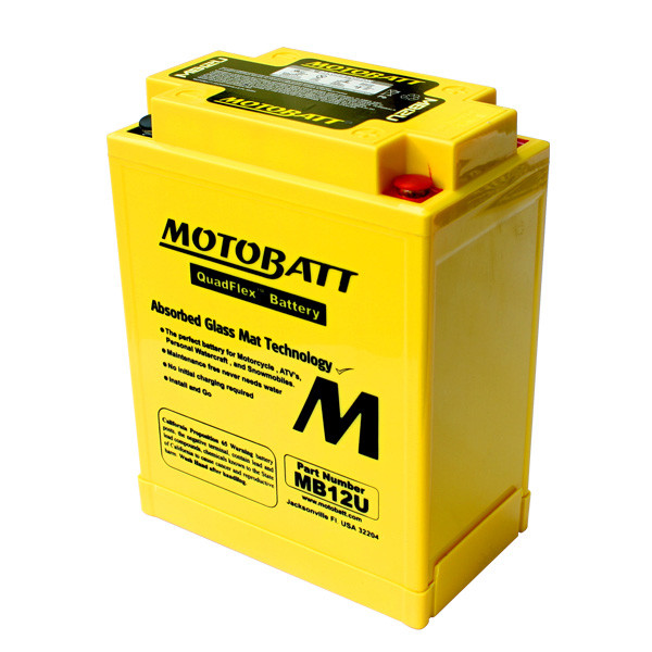 Motobatt MB12U Мото акумулятор 15 А/ч, 160 А, (+/-)(-/+), 135x80x161 мм