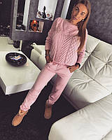 """Костюм Doratti """"Колос"""" свитер и брюки вязка шерсть с акрилом разные цвета Ddor279"""