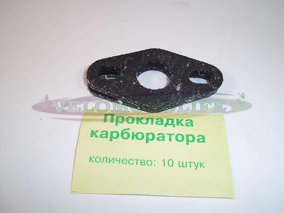 Прокладка карбюратора мопед, фото 2