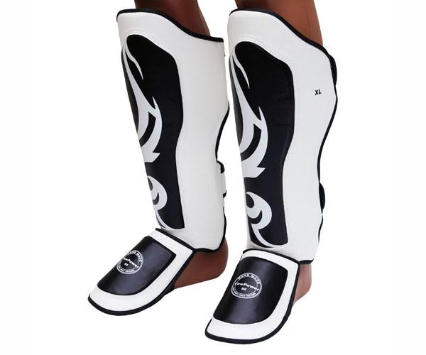 Захист гомілки (Щитки) FirePower FPSGA6 Білі з чорним