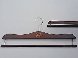 Плечики вешалки тремпеля Mainetti Kazara коричневого цвета  для брюк , длина 41 см