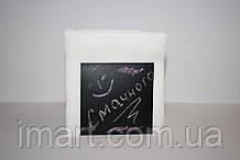 Салфетница 9х9 см, подставка для салфеток меловая