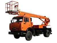 Аренда транспорта КАМАЗ с телескопической автовышкой
