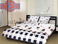 Комплект постельного белья бязь тэп премиум бутон комби евро размер