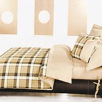 Комплект постельного белья из хлопка Тэп премиум шотландка \евро размер
