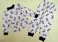 Пижама детская с начесом 4-8 лет