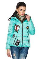 Демисезонная стильная куртка с нашивками, р. 42 - 54