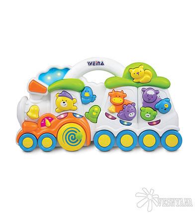 """Музыкальная игрушка Weina """"Паровозик с животными"""" (2106), фото 2"""