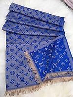 Палантин синего цвета в стиле LOUIS VUITTON