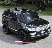 Электромобиль детский джип Range Rover 6628 EVA колёса в покраске, черный