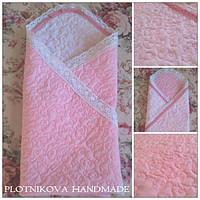 Одеяло для новорожденного стежка+кружево