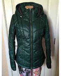 Куртка женская  s.Oliver демисезонная зеленая с капюшоном