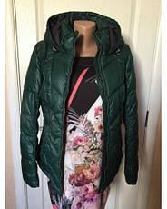 Куртка женская  s.Oliver демисезонная зеленая с капюшоном , фото 2