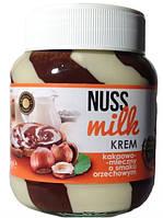 Шоколадная паста NUSS MILK ореховая с белым 400 грамм