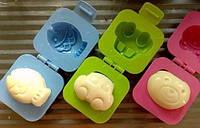 Формочки для вареных яиц или желе 2шт (машинка + рыбка)
