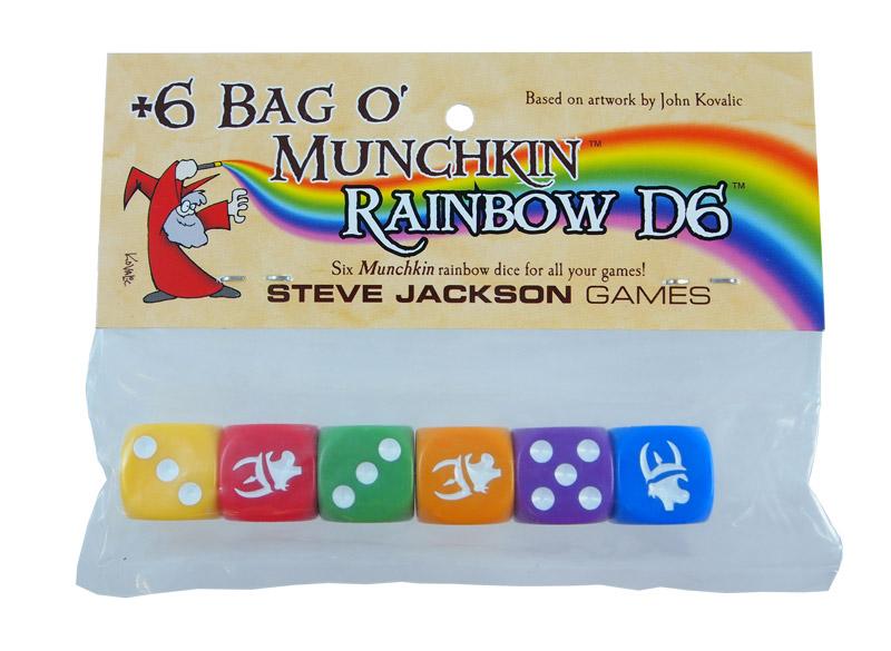 Munchkin D6 Rainbow Dice - Bag of 6