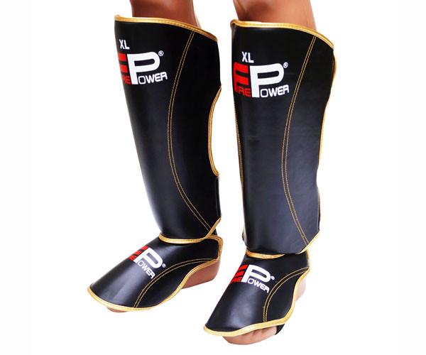 Защита ног (Щитки) Firepower FPSGA7 Черные с золотым