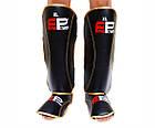 Защита ног (Щитки) Firepower FPSGA7 Черные с золотым, фото 2