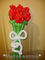 Букет троянд червоних 7шт
