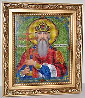"""Именная икона, вышитая бисером """"Св.Владимир"""""""