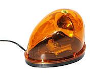 Мигалка капелька KJ-301 24V желтая в прикуриватель магнитная