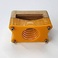 """Акустическая подставка """"Резонатор"""" для смартфона  желтый"""