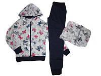 Спортивный костюм-двойка для девочки, F&D, размеры 140/146, арт. FD-7117