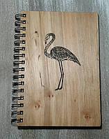 Деревянный блокнот ФЛАМИНГО тонированный, фото 1