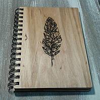 Деревянный блокнот ПЕРО тонированный, фото 1