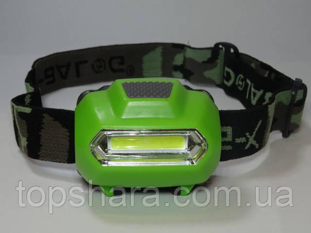 Налобный фонарь X-BALOG BL 2088 COB, фонарь на лоб, фонарик головной