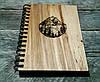 Деревянный блокнот ГОРЫ 2 тонированный