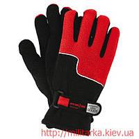 Перчатки зимние флисовые RPOLTRIAN red and black
