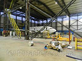 Промышленные ПВХ шторы для разделения территории ангара.