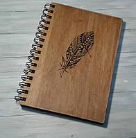 Деревянный блокнот ПЕРО 2 тонированный, фото 1
